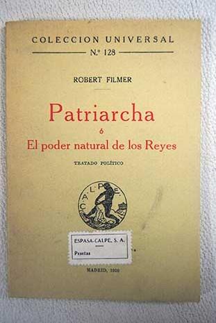 patriarcha o el poder natural de los reyes | robert filmer