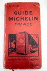 Guide Michelin France 1931