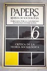 Papers Revista de sociología Núm 6
