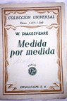 Medida por medida / William Shakespeare