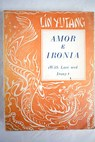 Amor e ironía With Love and Irony / Lin Yutang