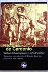 Historia de Cardenio / William Shakespeare