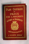 Plan Commode Guide indicateur des rues de Paris