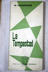 La tempestad / William Shakespeare