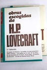 Obras escogidas / H P Lovecraft