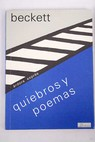 Quiebros y poemas / Samuel Beckett