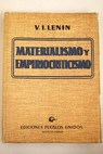 Materialismo y empiriocriticismo / Lenin