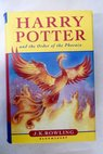 Harry Potter and the Order of the Phoenix / Rowling J K Duddle Jonny