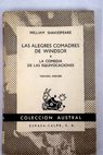 Las alegres comadres de Windsor La comedia de las equivocaciones / William Shakespeare
