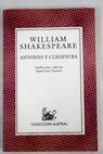 Antonio y Cleopatra / William Shakespeare