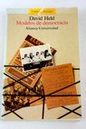 Modelos de democracia / David Held