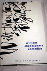Comedias / William Shakespeare
