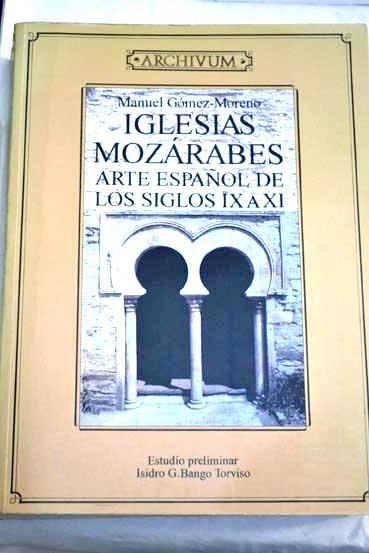 Resultado de imagen de mozarabe gomez moreno