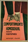 Comportamiento sexual entre varones / Wainwright Churchill