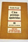 Cien poemas apátridas / Erich Fried